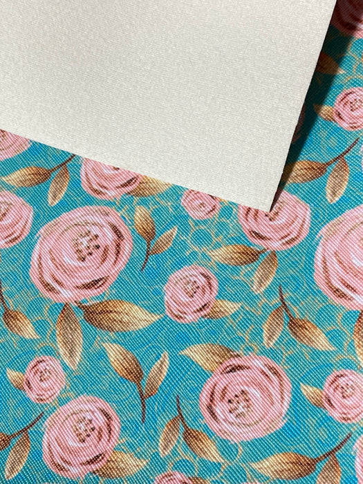 Rose Faux Leather Sheet - Flower #8