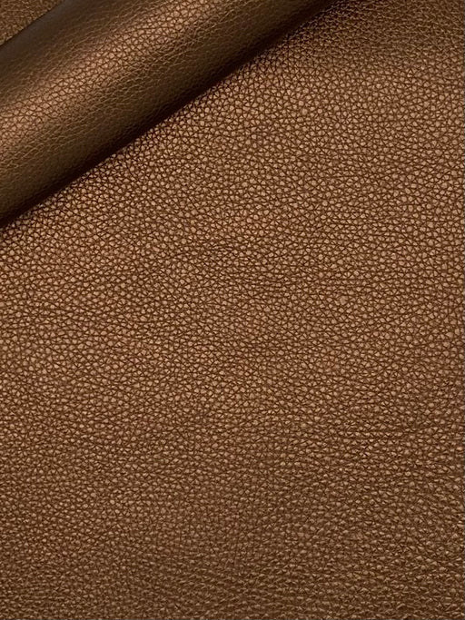 Metallic Bronze Pebble Grain Leather 3 oz-4 oz
