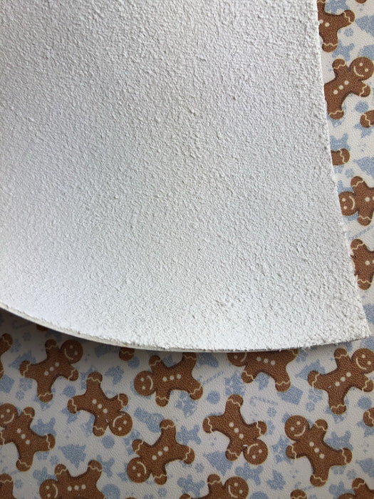 Gingerbread Man Printed Leather
