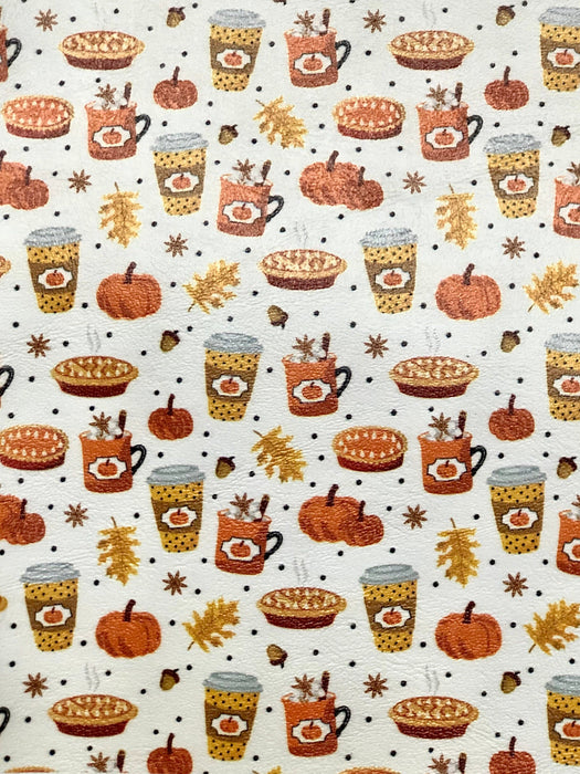 Everything Pumpkin - Printed Marine Vinyl Faux Leather