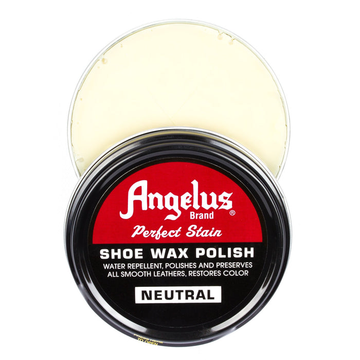 Angelus Neutral Shoe Wax Polish 3oz