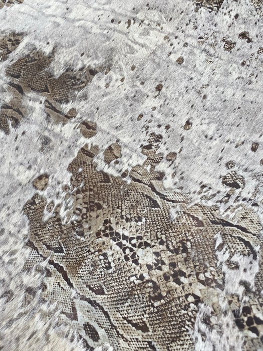 Snake Print Acid Wash Hair-On Cowhide Rug