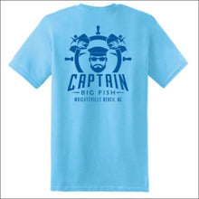 Load image into Gallery viewer, Captain Big Fish Logo Short Sleeve T-Shirt - S / Sky Blue - Royal Blue - Apparel