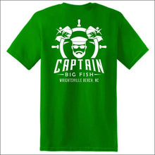 Load image into Gallery viewer, Captain Big Fish Logo Short Sleeve T-Shirt - S / Turf Green - White - Apparel