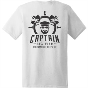 Open image in slideshow, Captain Big Fish Logo Short Sleeve T-Shirt - S / White - Apparel