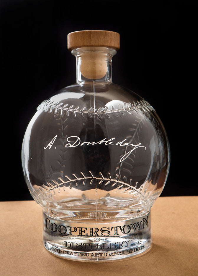 EMPTY Signed Baseball Collectible Bottle