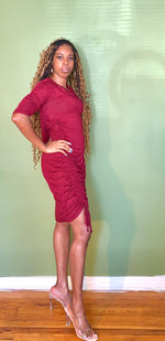 Load image into Gallery viewer, Annabelle Burgundy Dress - Gordon Sophia Collections