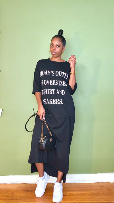 OOTD Oversize T-shirt Dress - Gordon Sophia Collections