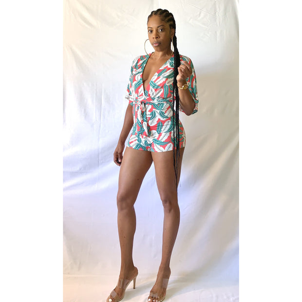 Miami (Coral) Romper - Gordon Sophia Collections