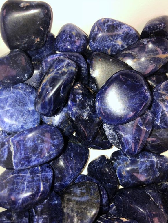 Sodalite Tumbled Stones Diamond Quality
