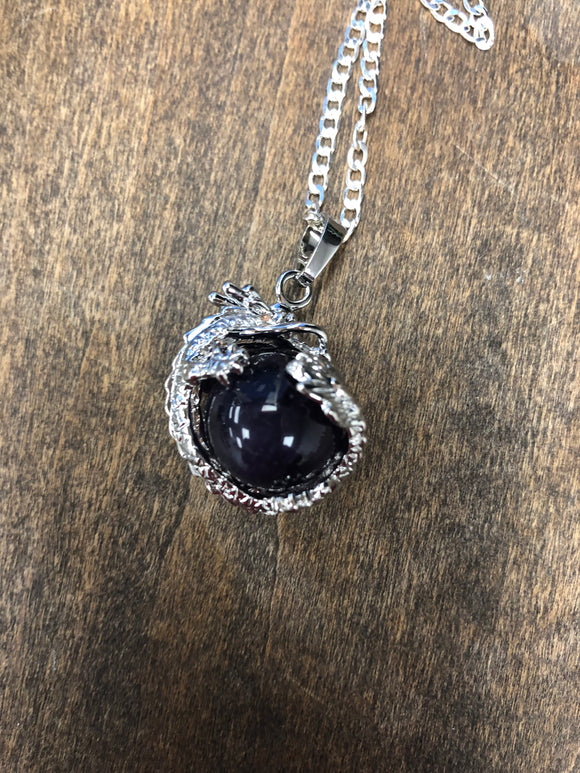 Amethyst Dragon Ball Pendant