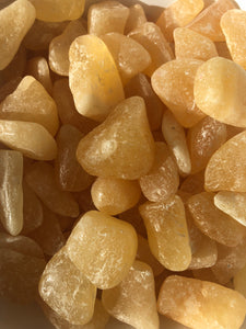 Orange Calcite Tumbled Stones