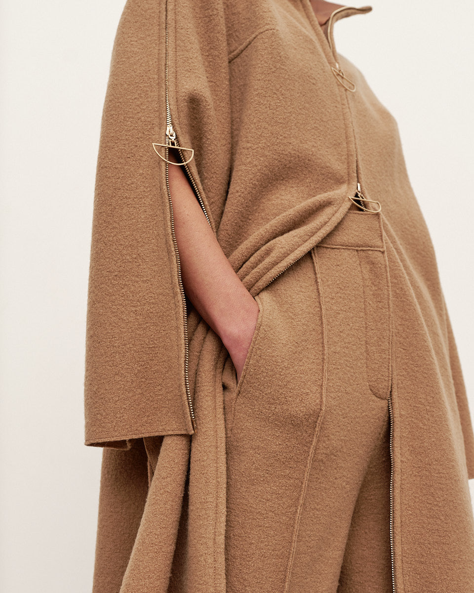 Zipper trench