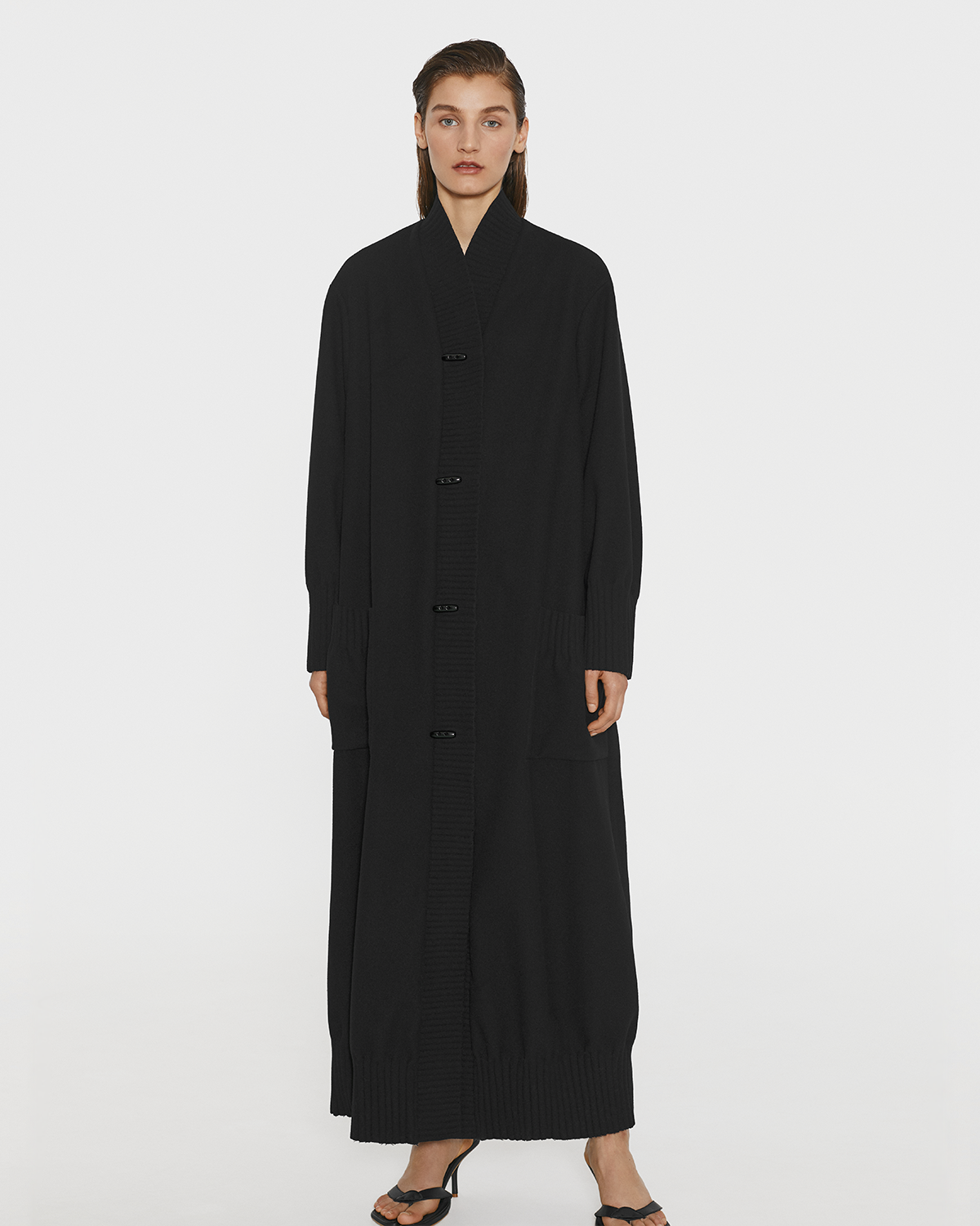 Oversized robe coat