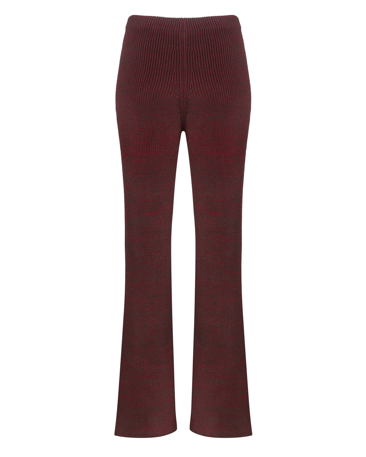Knitted melange pants