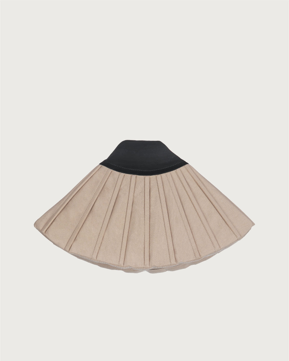 Mini Fan Clutch Beige