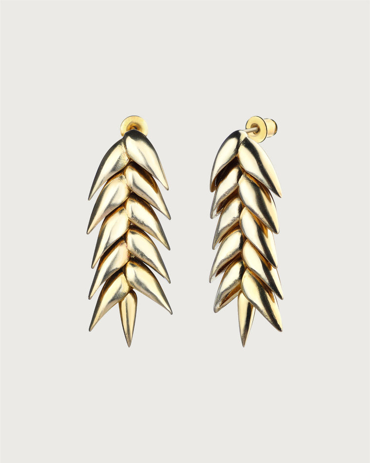 Spikelet Short Earrings