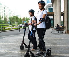 In terms of pros and cons of electric scooters, the risks of electric scooters a low in cities, and the electric scooter health benefits far outweigh the risks. We'll get you escooted and on your way!