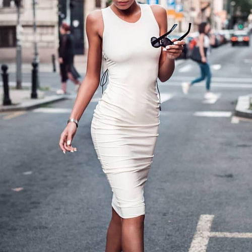 Sexy Sleeveless Round Neck Bodycon Dress