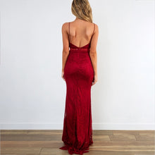 Load image into Gallery viewer, Sling Backless Solid Color Sexy Maxi Dress