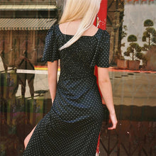 Load image into Gallery viewer, Casual Polka Dot Slit Short Sleeve Dress