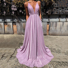 Load image into Gallery viewer, Sexy Sling Bright Pink High Waist Maxi Dress