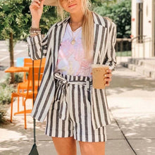 Load image into Gallery viewer, Striped Casual Loose Blazer