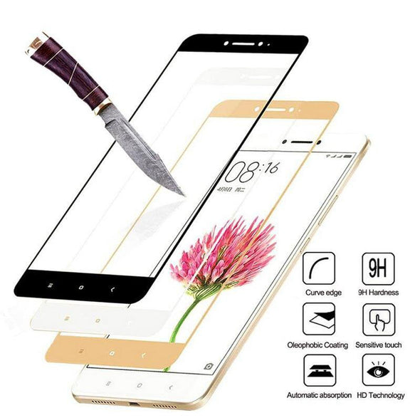 Full Cover Tempered Glass For Xiaomi Redmi 4X 5 Plus 4A 5A Redmi Note 5 - E-shopstore