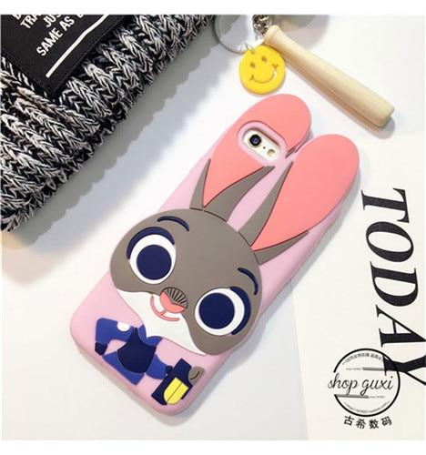 3D Cute Cartoon Animal Soft Silicone Back Cover Shells For iPhone - E-shopstore