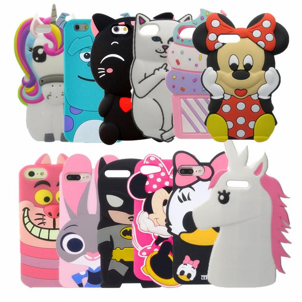 3D Cute  Case For iPhone 7 6 6S Plus 5s SE - E-shopstore