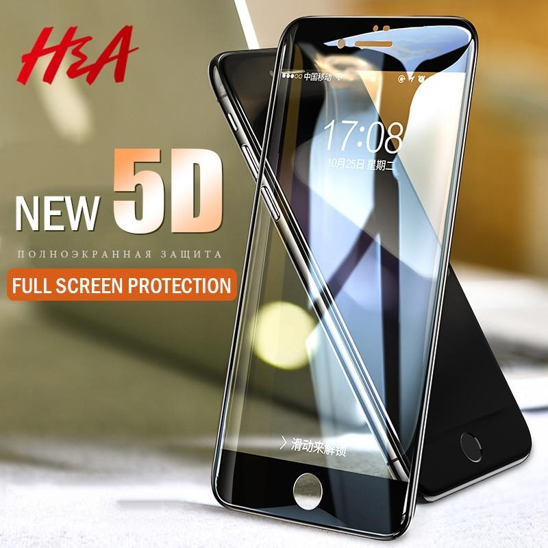 H&A 5D Full Cover Edge Tempered Glass For iPhone