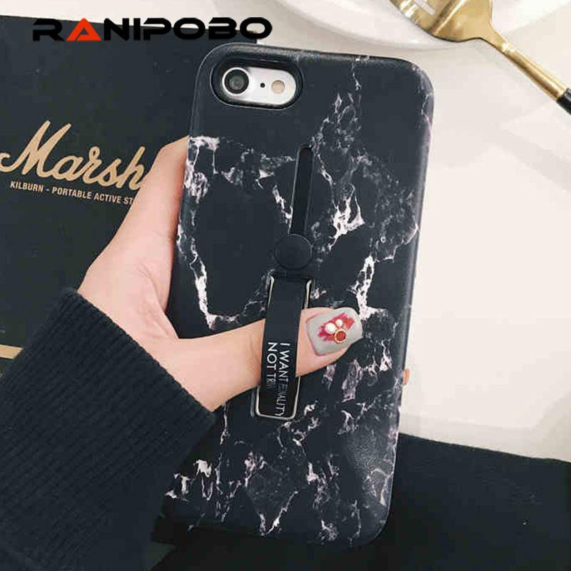 Fashion Marble Soft silicon Ring Phone Case For iphone - E-shopstore