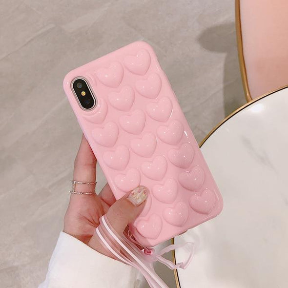 3D Love Heart Phone Case For iPhone - E-shopstore