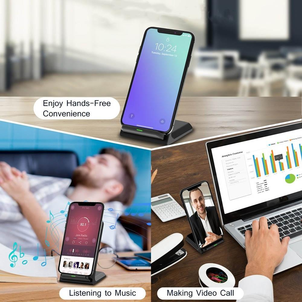 Qi Wireless Charger For iPhone  Samsung Note 8 S9 S8