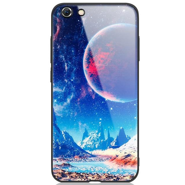 Star Space Tempered Glass Case For Iphone