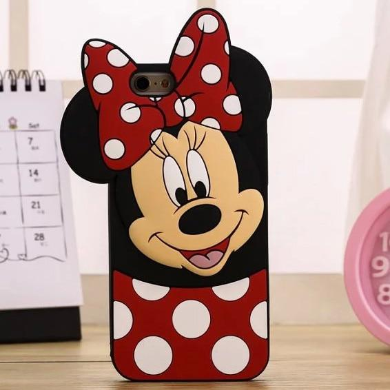 3D Cartoon Minnie Cat Coffee Cup Unicorn Soft Silicone Cover For iPhone - E-shopstore