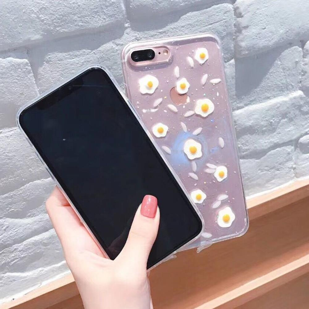 Fashion Korean Style Eggs Transparent case for Iphone - E-shopstore