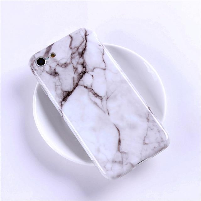 Luxury Marble Phone Case For iPhone's series - E-shopstore