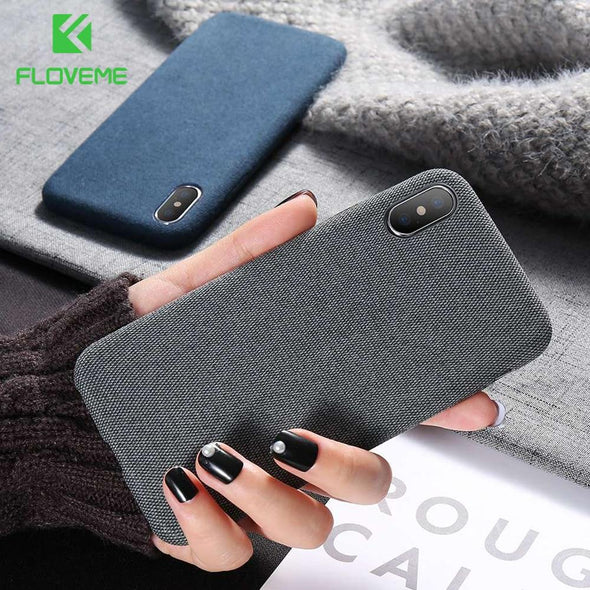 Luxury Cloth Texture Ultra Soft  Cover For iPhone