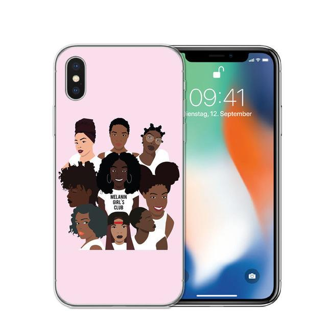 Fashion Black Girl Cover For iPhone - E-shopstore