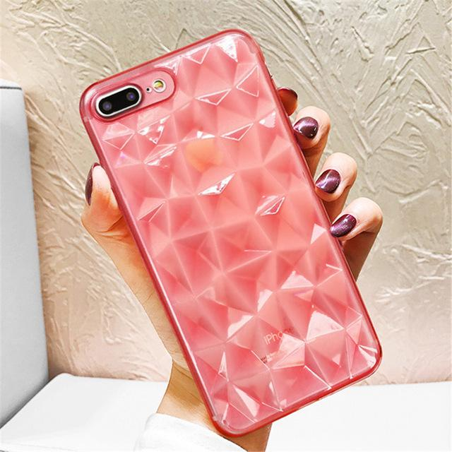 Ultra Thin  Diamond Texture Case For iPhone