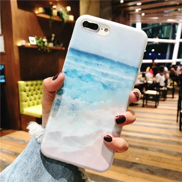 Blue Ocean Waves Phone Case For iphone - E-shopstore