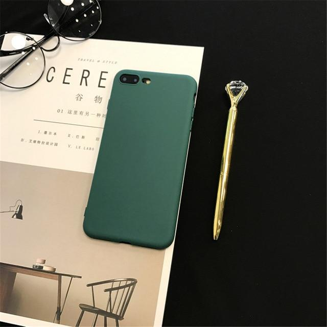 Candy Colors Soft Ultra Thin Back Cover Silicon case for Iphone series - E-shopstore