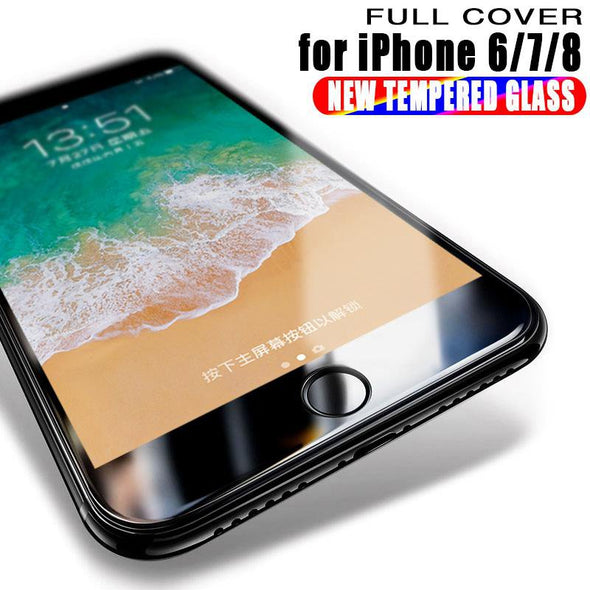 Full Coverage 6D Tempered Glass For iPhone