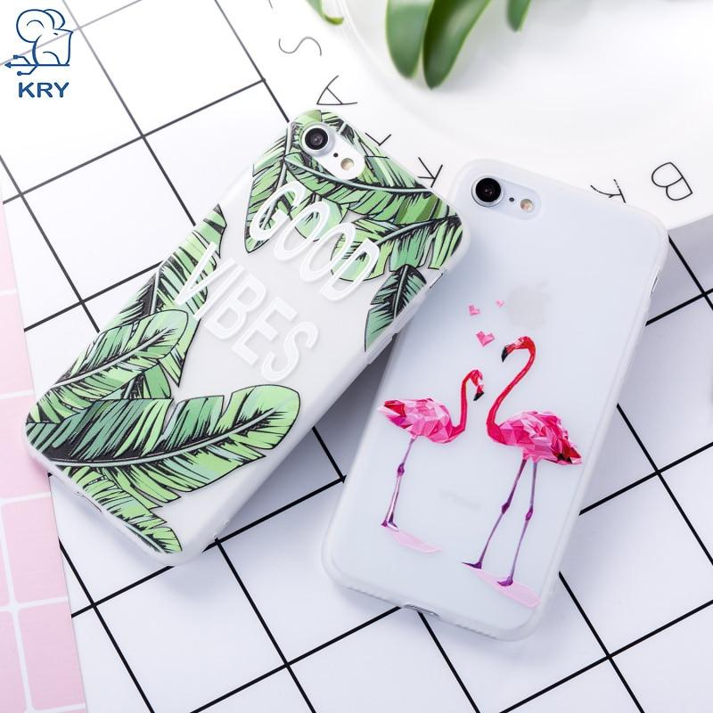 Relief Flamingos Phone Cases For iPhone