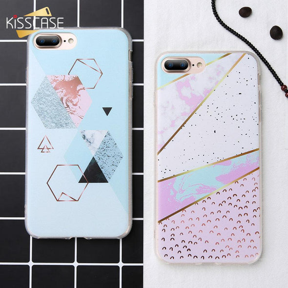 Samsung Galaxy Note 9, 8 ,S9 &S8 Geometry Marble Case