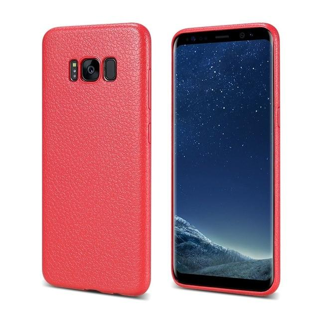 Ultra Thin Leather Skin Case For Samsung