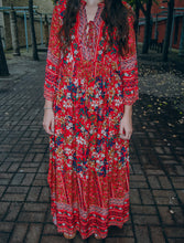 Load image into Gallery viewer, Jody Floral Dress in Red