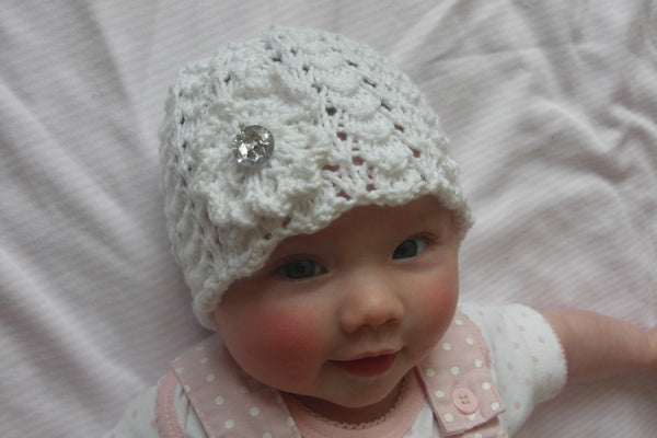 Lacey Baby Girl Hat Knitting Pattern Katy G Knitting Designs