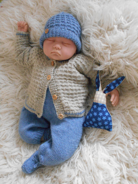 016060ae6 Charlie Baby Boy Knitting pattern to Knit Cardigan Hat trousers ...